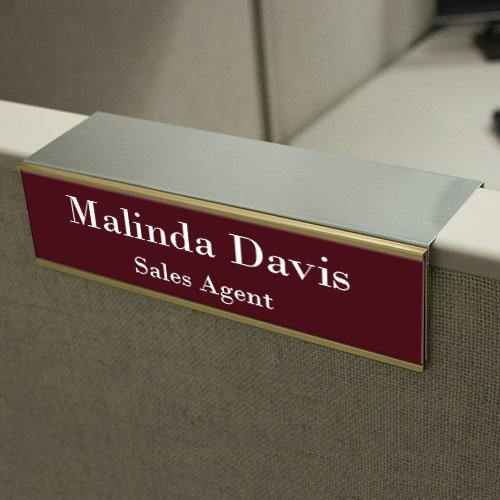 8x2 Engraved Office Name Plates In Durable Plastic With 17