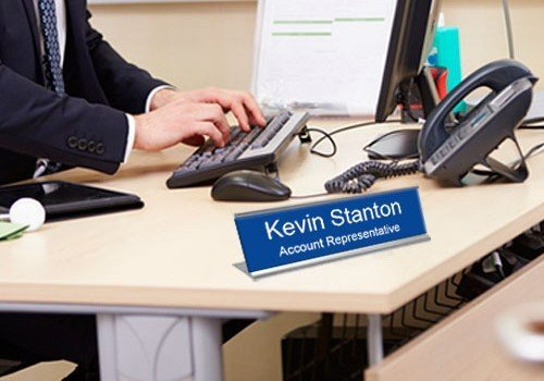 Office Name Plates Engraved or Custom Printed Metal and Plastic ...