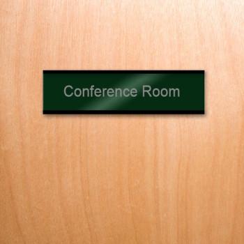 Nameplate-Wooden-Door-Green-Aluminum