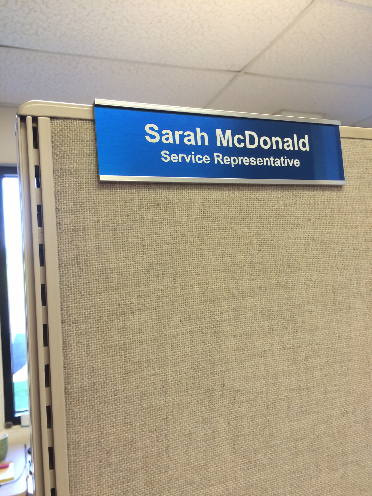 Two-Sided Cubicle Nameplate Holders 8\