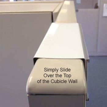 Cubicle Nameplate Holder Slides Over Any Cubicle Wall Easily. Napnameplates.com