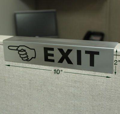 custom cubicle sign 10x2