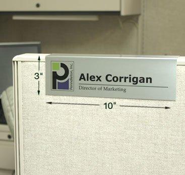 custom cubicle sign 10x3