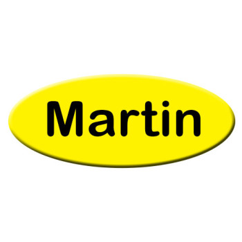 Small oval name badges and employee name tags are made of thick, durable plastic and engraved with employee names or any text you'd like. Design yours online! NapNameplates.com