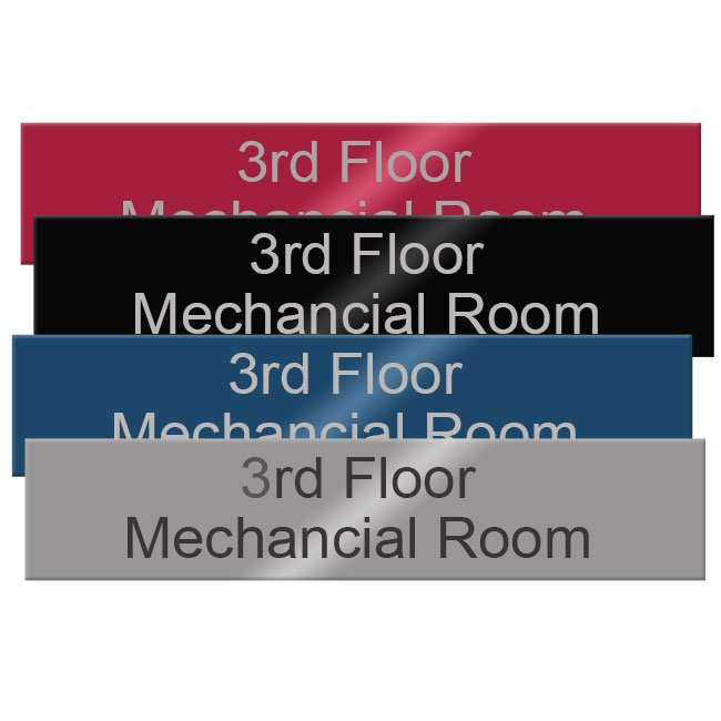 10x2 Engraved Metal Name Plates For Offices Made Of