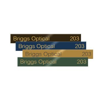 Engraved brass office name plates engraved for employees, doors, lobbies and more. Customize online! NapNameplates.com