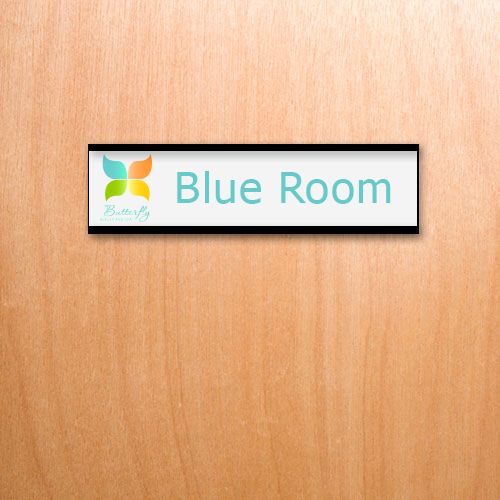 8x2 Custom Office Name Plates With Full Color Logos And