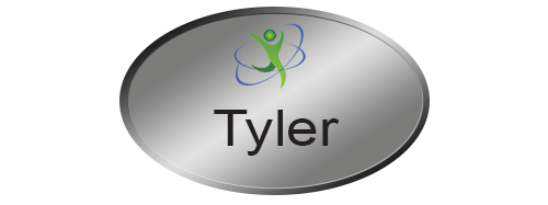 Metal name badges for employees, printed in vibrant color with names, logos, graphics and more. Personalize and design yours online! Napnameplates.com