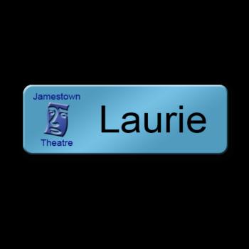 Magnetic-metal-blue-name-badge