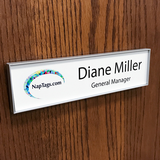 changeable name plate frame for doors and walls napnameplatescom - Name Picture Frames