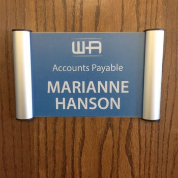 Snap Name Plate Frames for Office Doors or Walls - Napnameplates.com