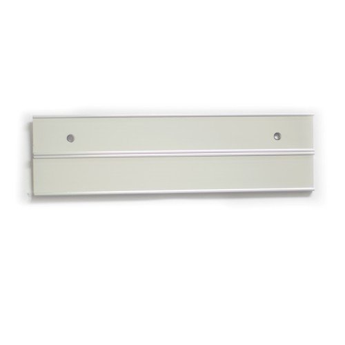 Double Nameplate Holders Silver 8-in 104-8-S