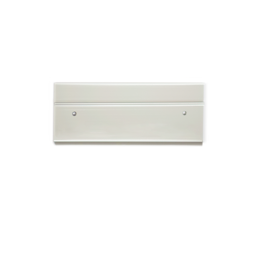 Double office nameplate holder in silver (115-8-S) - Nap-Nameplates.com