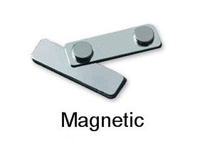 magnetic name badge fasteners for employee name tags from nap nameplatescom - Magnetic Name Badges