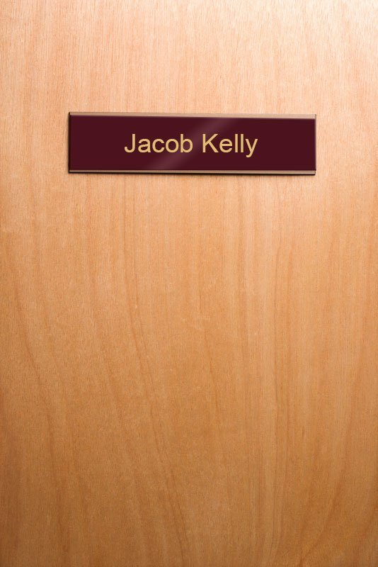 "5 Christmas Discounts High Quality Modern Wooden Door: 8"" Office Nameplate Holders For Doors Or Walls"