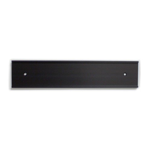 Office Nameplate Holders for Doors or Walls in Black 10-in (PG089-BLK)- Nap-Nameplates.com