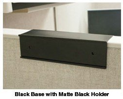 Cubicle nameplate holder in black - Nap-Nameplates.com