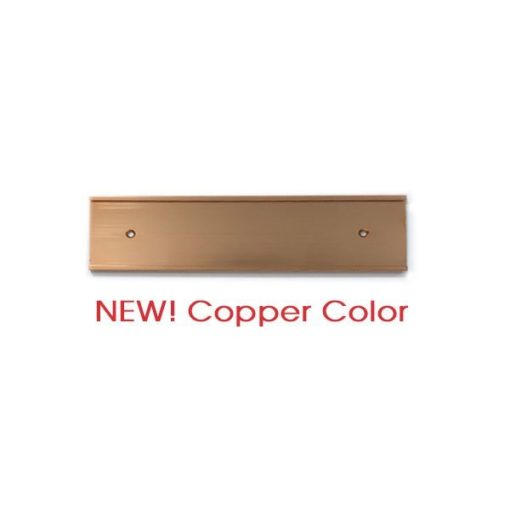 copper nameplate holder