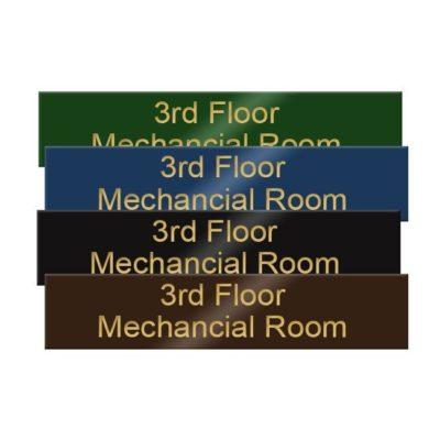 Engraved brass office name plates are ultra-professional and affordable. Precision engraved and customized online! NapNameplates.com