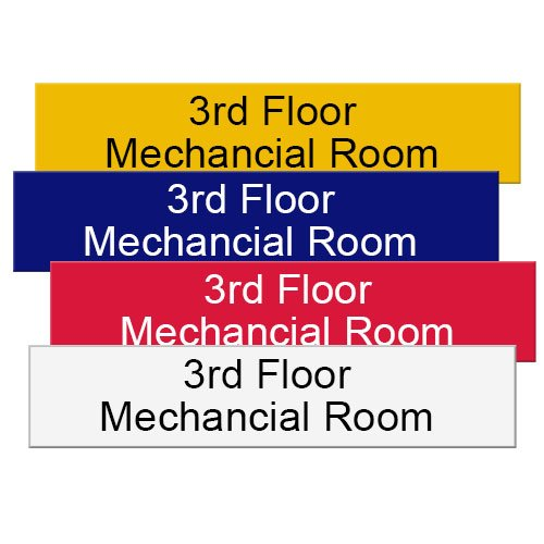 Engraved Office Name Plates in Vibrant Colored Plastic. Durable and long-lasting. Precision Engraved with any text. Customize yours online! NapNameplates.com