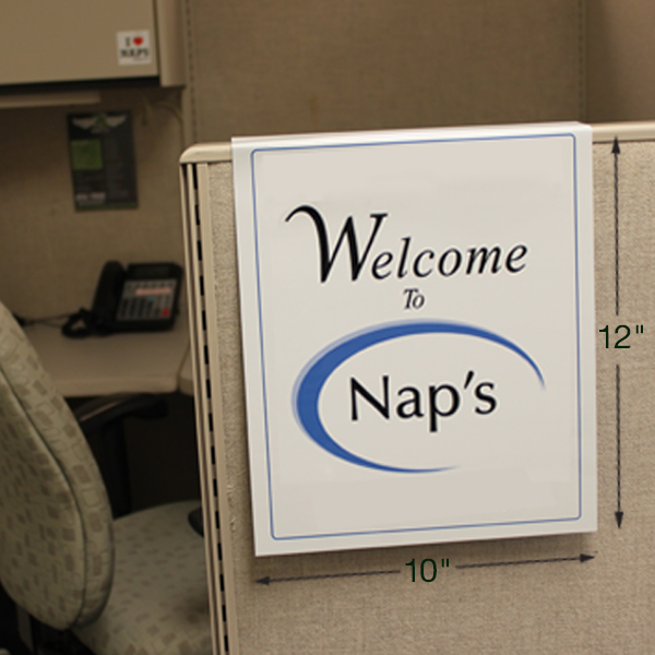 cubicle nameplatesa and signs