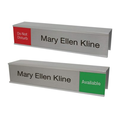 Cubicle Slider Signs and Name Plates with Custom-Printed Text - NapNameplates.com