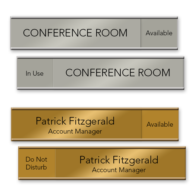 Office Name Plates Engraved or Custom Printed Metal and ...