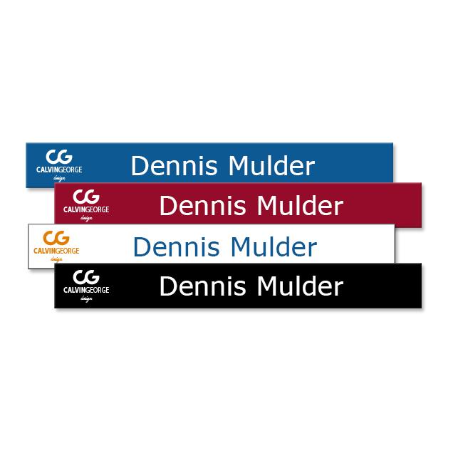 8x1 Custom Office Name Plates Printed In Vibrant Full