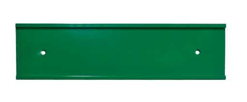green nameplate holder