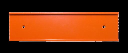 orange nameplate holder