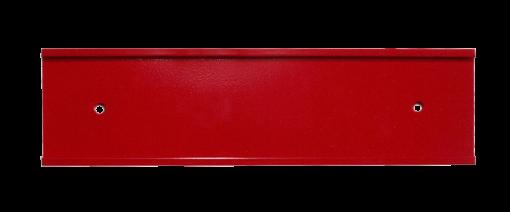 red nameplate holder