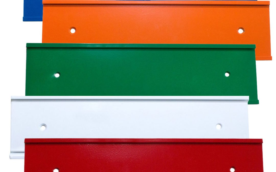 colorful nameplate holders