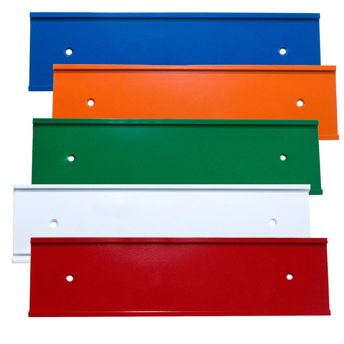 Colored name plate holders for office doors and walls - NapNameplates.com