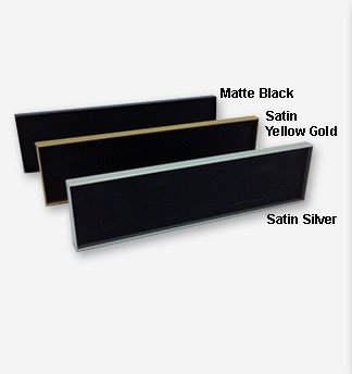 10 x 1 engraved aluminum nameplates in vibrant colors and personalized for employees, offices, lobbies and more. Low prices and fast shipping from NapNameplates.com