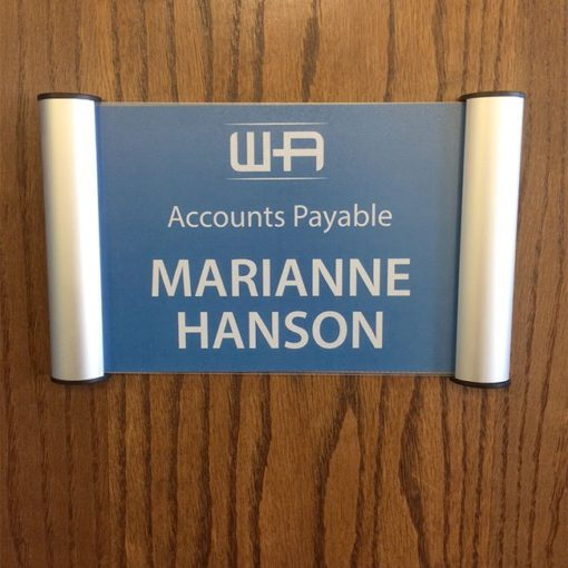 Snap Name Plate Frames for Office Doors or Walls - Napnameplates.com