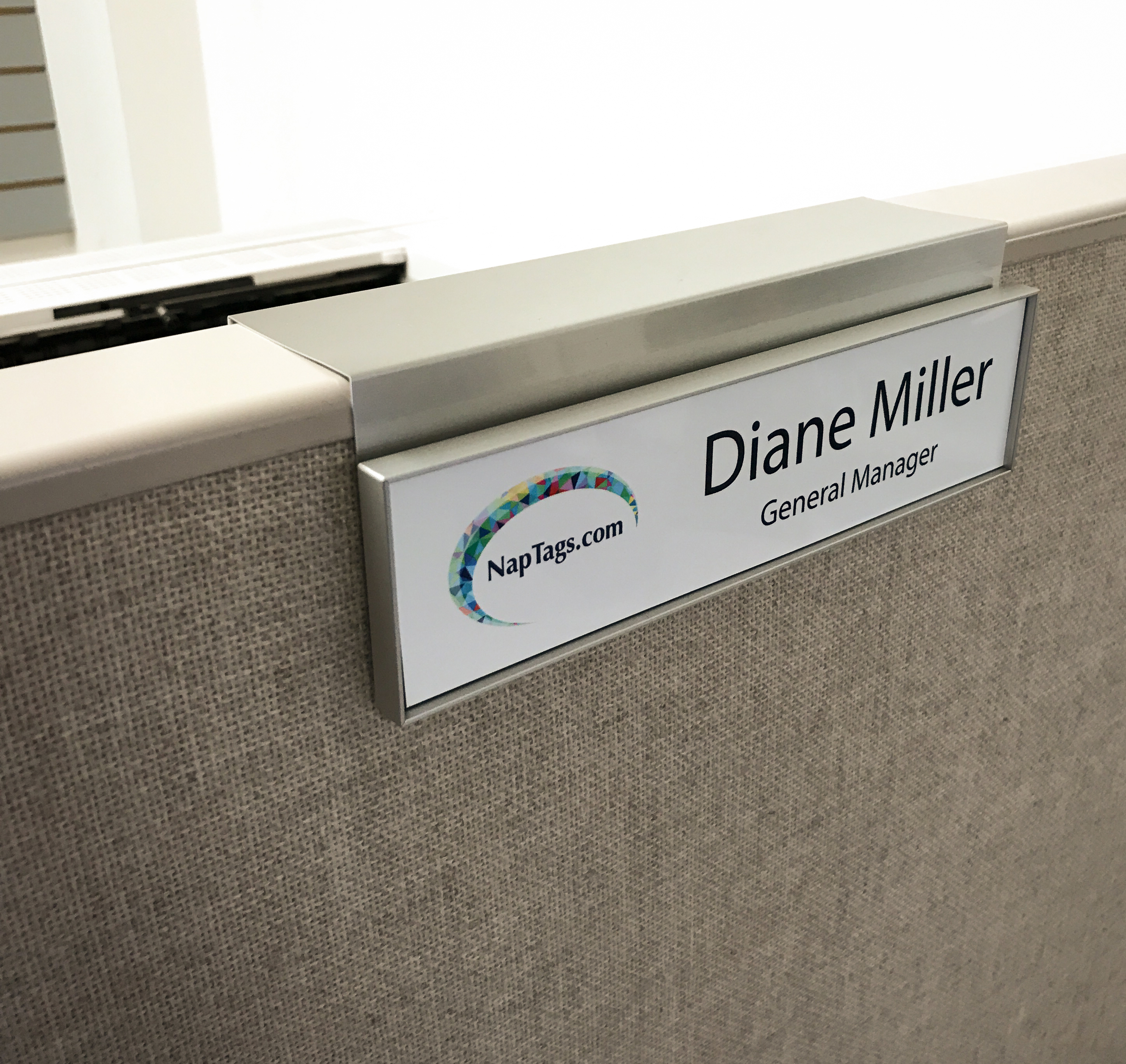 Cubicle Name Plate Holders Just B Cause