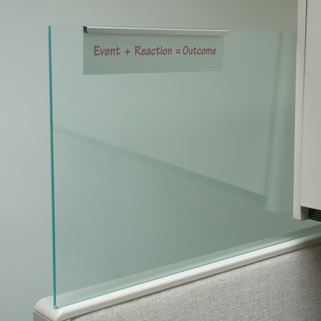Glass Cubicle Name Plate Holders Slide Over Glass