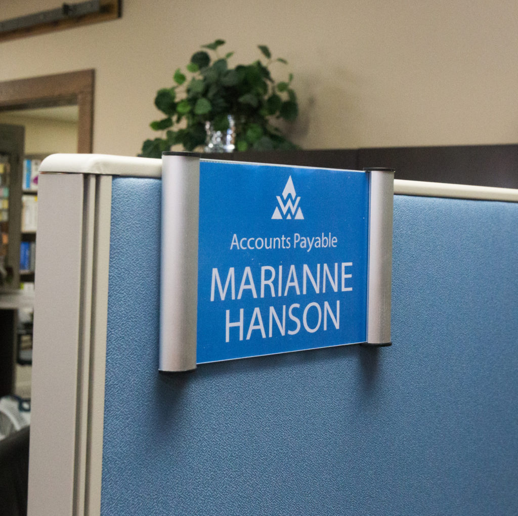 Cubicle Snap Name Plate Frame