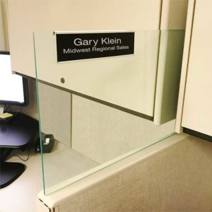 Glass Cubicle Name Plate Holders for Offices - NapNameplates.com