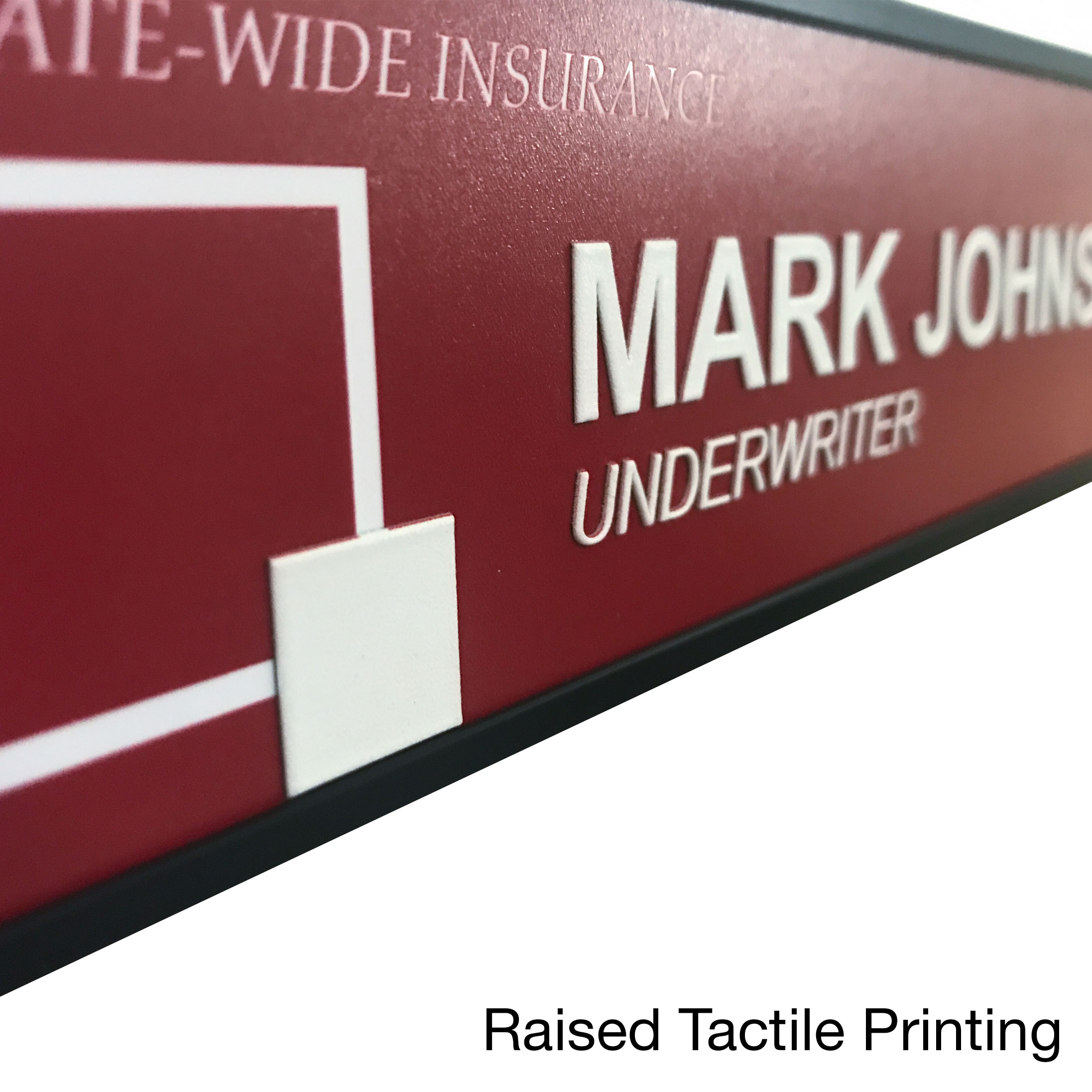 Office name plates with raised printing for ADA compliance - NapNameplates.com