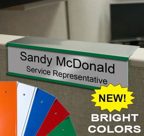 cubicle nameplate holder