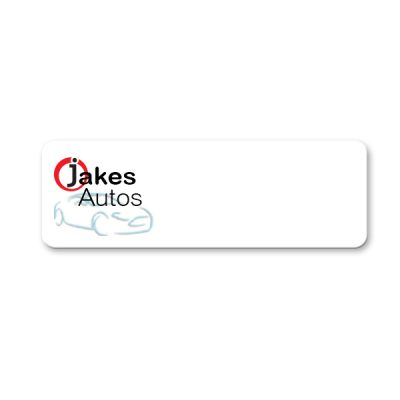 plastic name badge with only a logo - NapNameplates.com