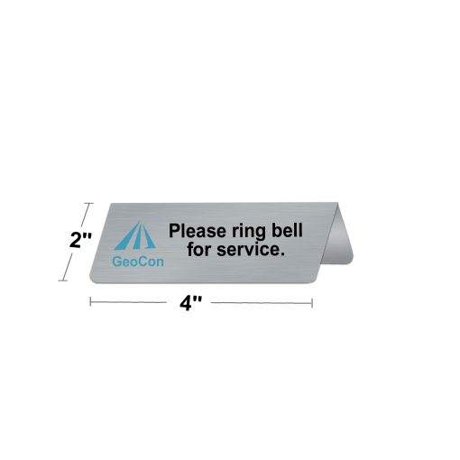 custom table tent signs