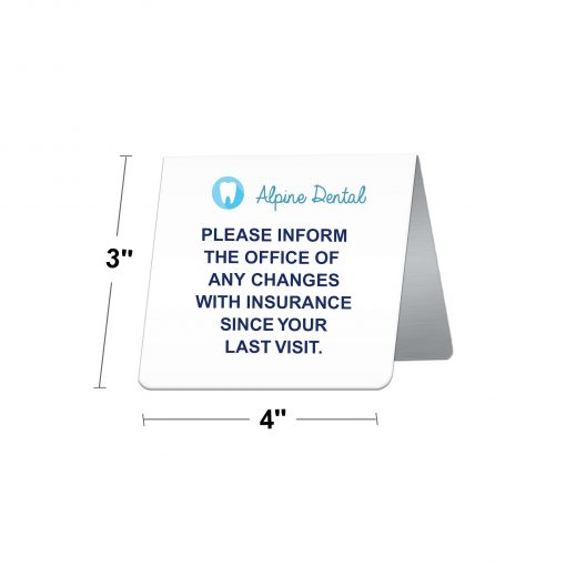 table tent signs