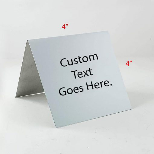 custom table tent sign