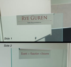 glass cubicle nameplate