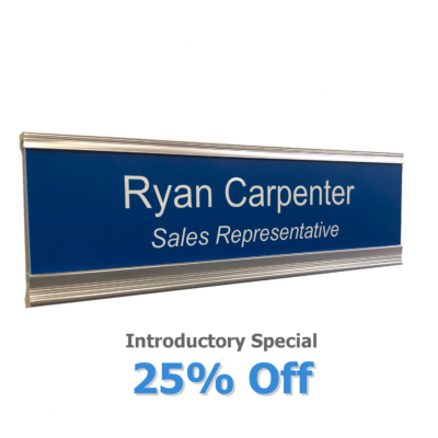 Executive name plate holders for doors and walls - NapNameplates.com