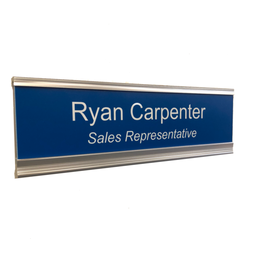 Executive Name Plate Holders, Modern and Professional in Silver, Black and Copper - Unique Design! NapNameplates.com
