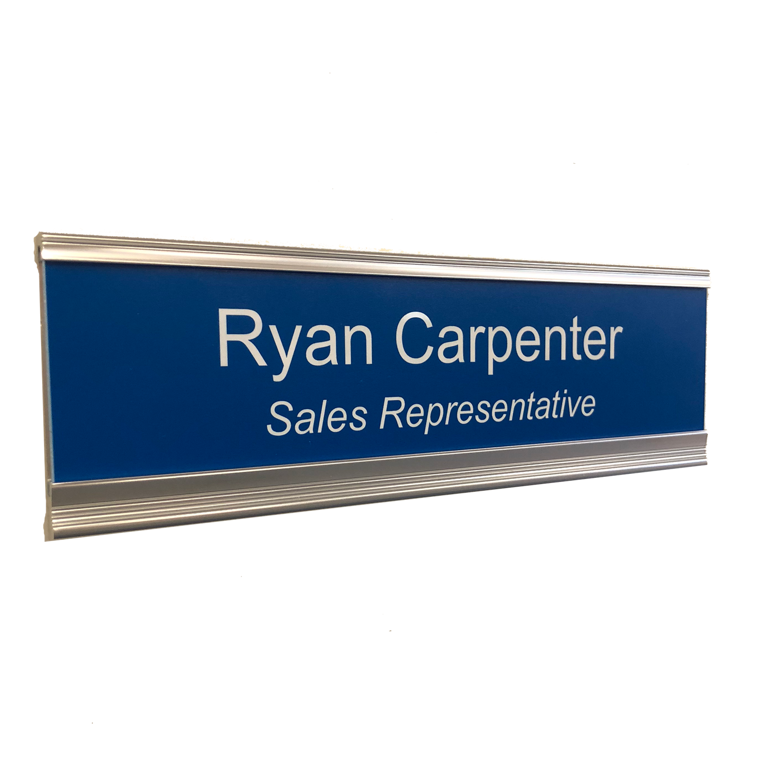 CUSTOM ENGRAVED NAME PLATE OFFICE DOOR PLATE WALL SIGN WITH HOLDER