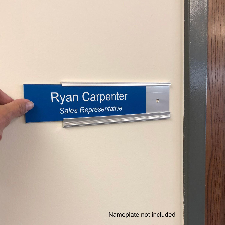 8 x 2 executive name plate holders napnameplates